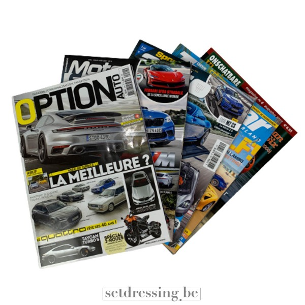 Magazines mix borsten en trucks