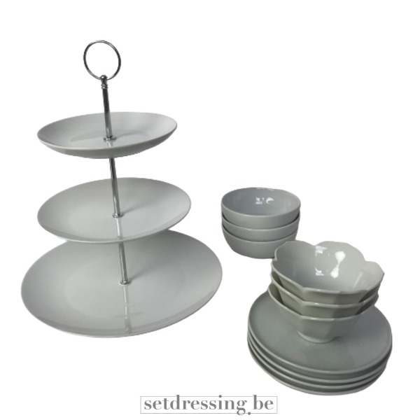 Serviesset high tea / dessert set